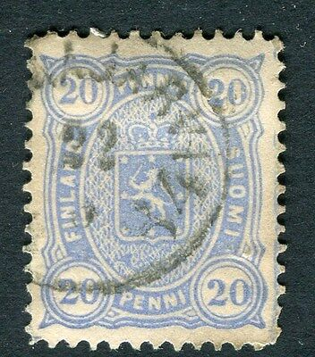 FINLAND;   1875 early classic issue used 20p. value, postmark