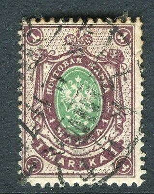 FINLAND;   1901 early issue Russia Type fine used 1M. value