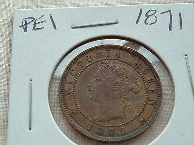 Collector Coin 1871 PEI large cent Higher grade!