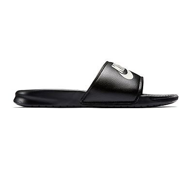 New Men's Nike Benassi JDI Slide Sandals Black/White size  7 8 9 10 11 12 13