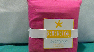 BananaFish Studio Collection Hot Pink Fitted Crib Sheet 100% Cotton