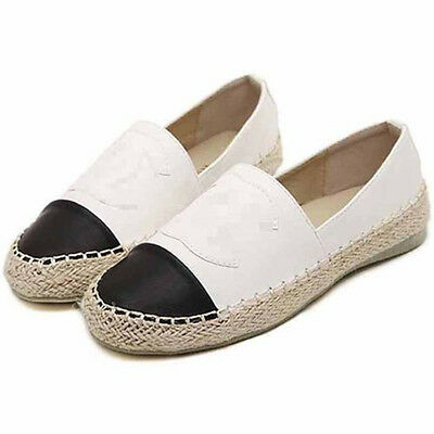 Women's Casual Shoes Loafers Boat Shoes Flat Heel Weave Espadrilles Sneakers NEW