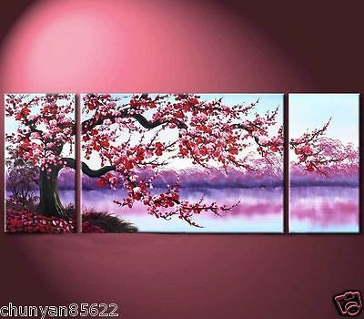 3PC Large Modern Abstract Art Oil Painting Wall Decor canvas