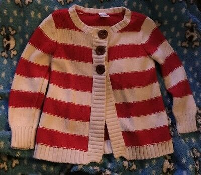 Old Navy~Red~Striped~Toddler~Girl~Cardigan~Size 3T Very Cute