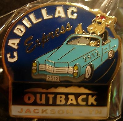 J6108a Outback Steakhouse Jackson Tn Blue car hat lapel pin