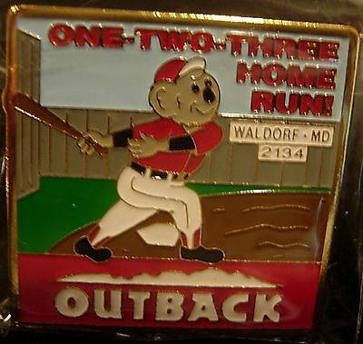 J6154b Outback Steakhouse Waldorf Md one two three home run Red
