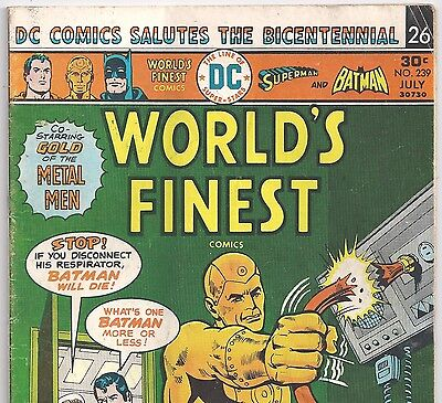 World's Finest Comics #239 Superman, Batman from July 1976 in VG- condition