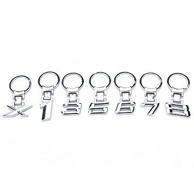 Metal car logo keychain key chain keyring key ring Llavero for BMW1 3 5 6 7 8 BU