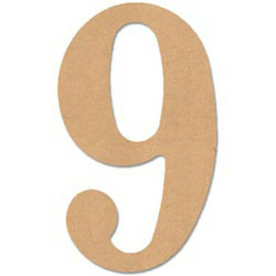 "MDF Classic Font Wood Letters & Numbers 9.5""-Number 9"