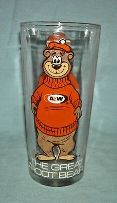 Vintage A & W Root Beer The Great Root Bear Glass
