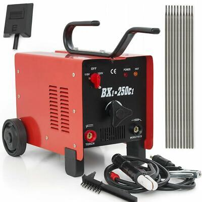 250 AMP ARC Welding Machine 110/220V Dual Soldering Face Mask Accessory Kit