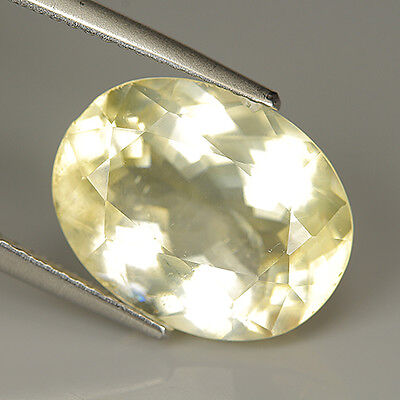 6.34 Ct Natural Ultra Rare Mexico Light YELLOW CALCITE Oval Gem @ See Video !!