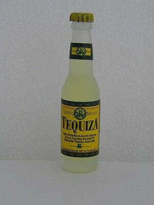 TEQUIZA BEER by Anheuser-Busch  Miniature Frosted 3 inch Glass Bottle