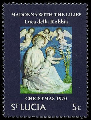 "ST. LUCIA 286 (SG301) - Christmas ""Madonna with the Lilies"" (pa28203)"