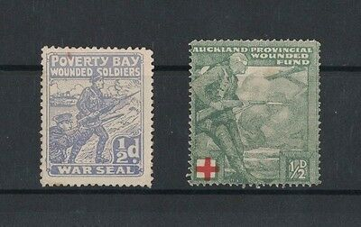 New Zealand Cinderella Stamps Poverty Bay Wounded Soldiers (2)