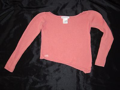 American Girl CL LE ISABELLE CORAL pink SWEATER size 7/8 kids asymmetrical hem