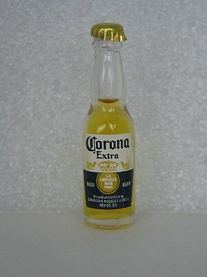 Corona Extra BEER  Miniature 3 inch Glass Bottle - made in Argentina