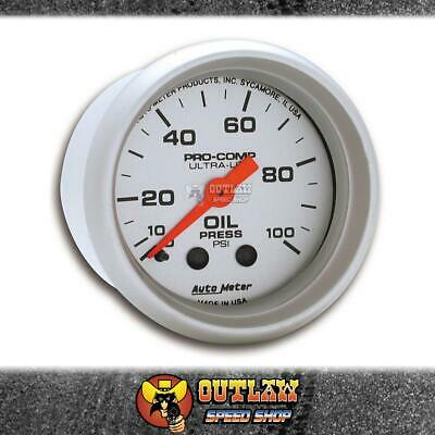 "Autometer Gauge Ultralite Oil Pressure 0-100 Psi 2"" Mechanical - Au4321"