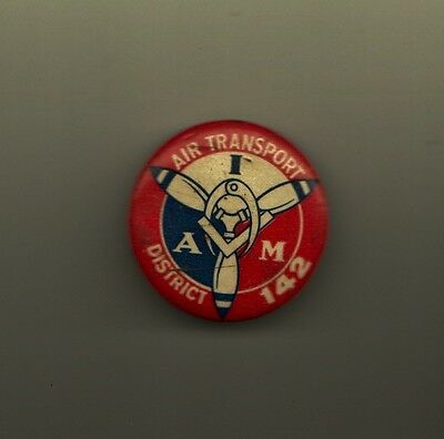 Air Transport A M District 142 Aerospace Machinists Lodge Pin Vintage