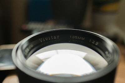 Vivitar Vintage Telephoto Lens 135mm f2.5 1:2.5 w/canon eos adapting mount