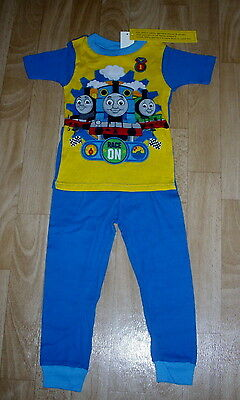 Boys Thomas The Tank Blue Race On Spring Summer Pajamas Size 4T New With Tags