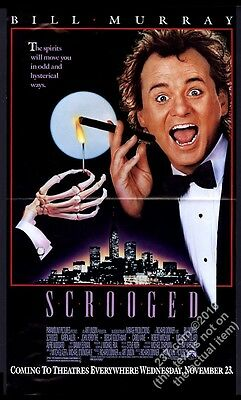 1988 Bill Murray photo Scrooged movie release vintage print ad