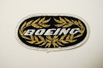 Vintage Boeing Blue Gold White 747? Embroidered Patch