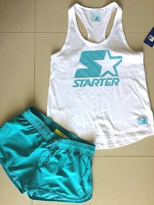 NEW & TAG SPORTS TANK TOP & SHORTS FITNESS EXCERCISE YOGA Sz 12  FREE POST