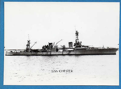 1930s US Navy Heavy Cruiser CA-27 USS Chester Photo