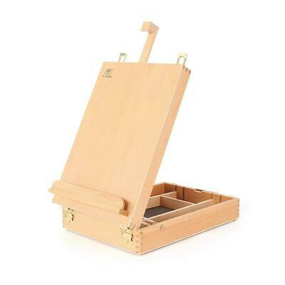 Wooden French Tripod Easel Portable Sketch Table Box Folding Durable Art Painter