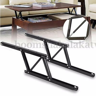 2 Pcs Lift Up Top Coffee Table Lifting Frame Mechanism Spring Hinge Hardware AU