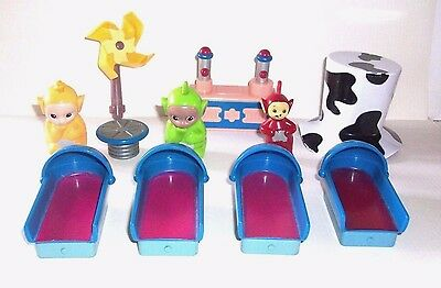 Teletubbies Figures - 4 Beds - Custard Machine - Table - Large Hat -  For House