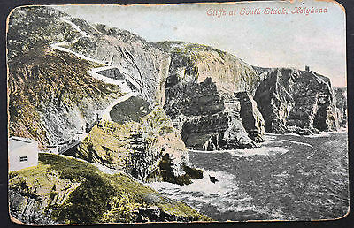 Postcard ~ Wales ~ Cliffes at South Stack, Holyhead ~ Valentine's