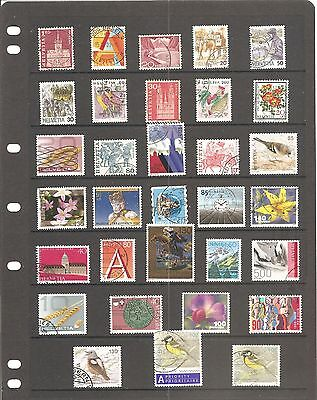 A Collection Of  32  Switzerland  Fine Used   Stamps    B