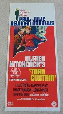 TORN CURTAIN ORIGINAL DAYBILL CINEMA MOVIE POSTER 1966 HITCHCOCK Paul Newman