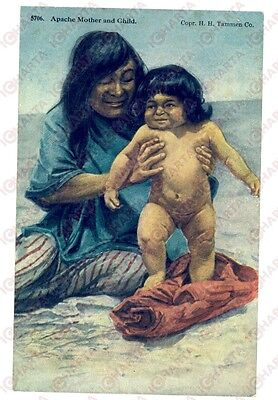1910 ca USA NATIVE AMERICANS APACHE mother and child *Postcard H. H.TAMMEN FP NV