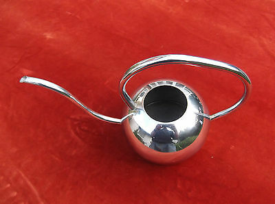 Art Deco Chrome Watering Can/conservatory Plant Feeder/patio Water Can/rose Feed