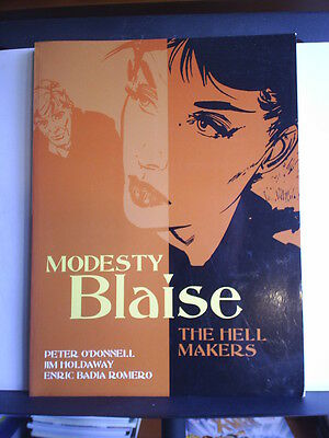 GRAPHIC NOVEL: MODESTY BLAISE - THE HELL MAKERS - Paperback 2005 1st print