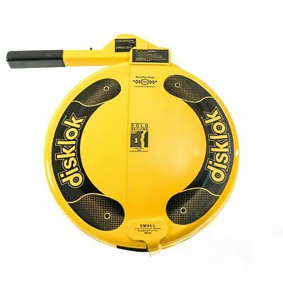 Disklok Security Medium 39 - 41cm Yellow Disklok Steering Wheel Anti Theft Lock