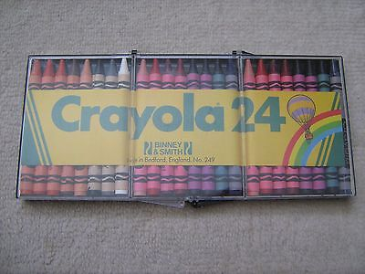"""Vintage"" - CRAYOLA - Cased - Waxed Crayons #3 (No.249) - Never Used - 1980s"