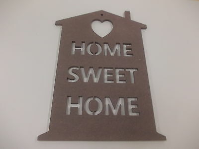 Home Sweet Home Wall Plaque  A3 Chocolate Home Decoration House Warming Gift