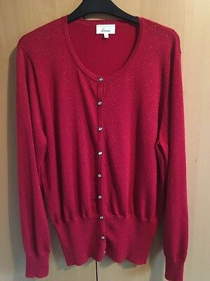 Linea Red Cardigan Size Xl