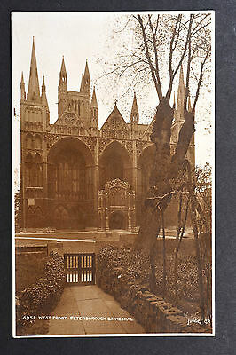 Postcard ~ West Front, Peterborough Cathedral ~ Judges
