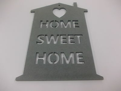 Home Sweet Home Wall Plaque  A3 Dark Green Home Decoration House Warming Gift
