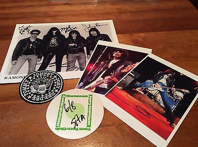 THE RAMONES: Vintage Promoter's Gear, Backstage Pass, Patch, Photos etc.