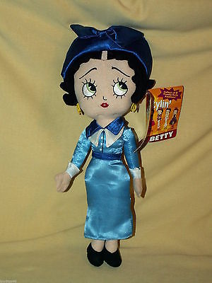 Betty Boop Doll 17 Inch Large Tall 2009 Trendy 1930's Plush Blue Dress Hat Retro