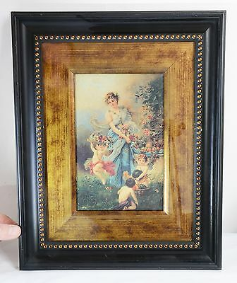 Beautiful Ornate Picture Frame with Beaded Design - 35.5 cms. Antique Styled