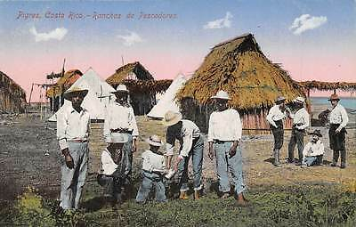 PIGRES, COSTA RICA, FISHERMEN AT THEIR RANCH, HOMES, TORMO PUB c. 1904-14