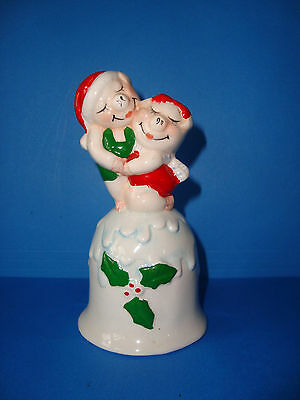 Enesco Designed Giftware Ceramic Christmas PIG Themed  Bell 5 inch tall