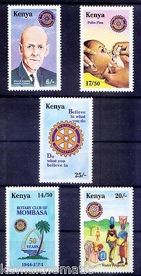 Rotary, Paul Harris, Vaccination, Medicine, Water Projects, Kenya 1995 MNH - M22